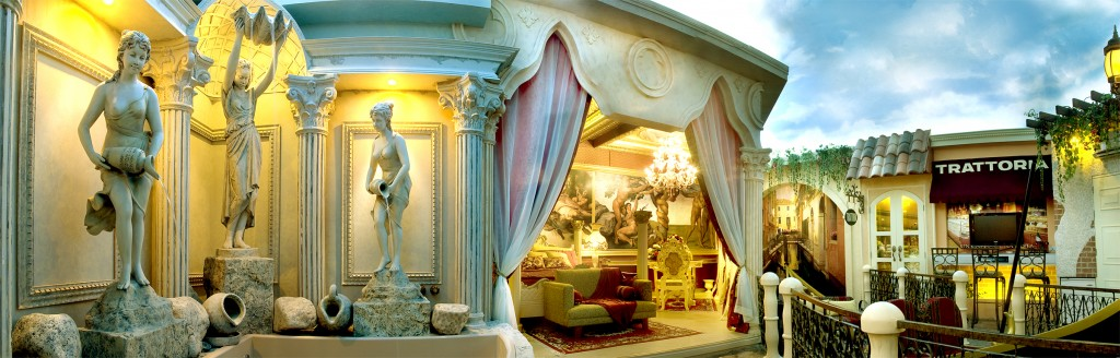The Venice suite replicates life in Italy
