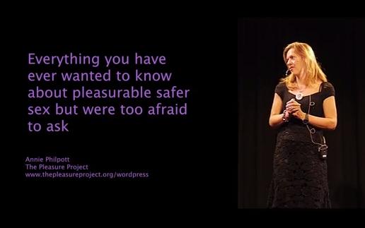 Ignite talk by Anne Philpott of the Pleasure Project